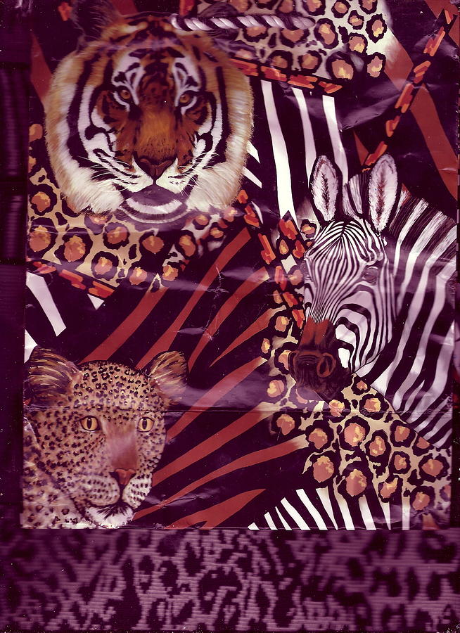 Tiger Photograph - Mixed Bag Of Animals by Anne-Elizabeth Whiteway