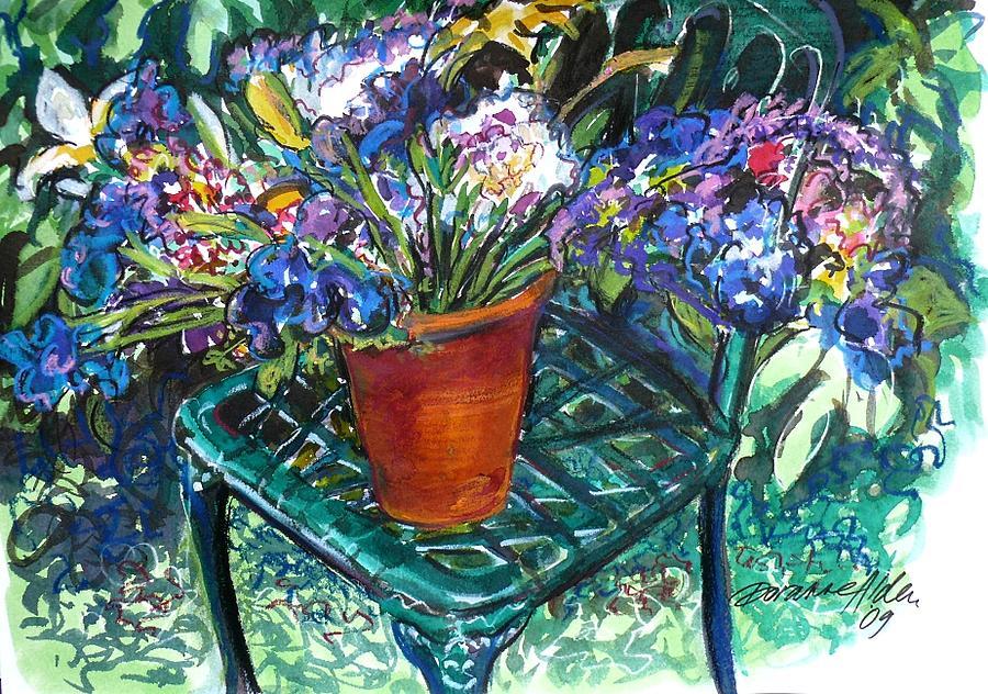 Flowers Painting - Mixed Bouquet by Doranne Alden