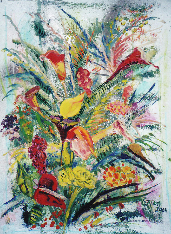 Flowers Painting - Mixed Bouquet by John Keaton