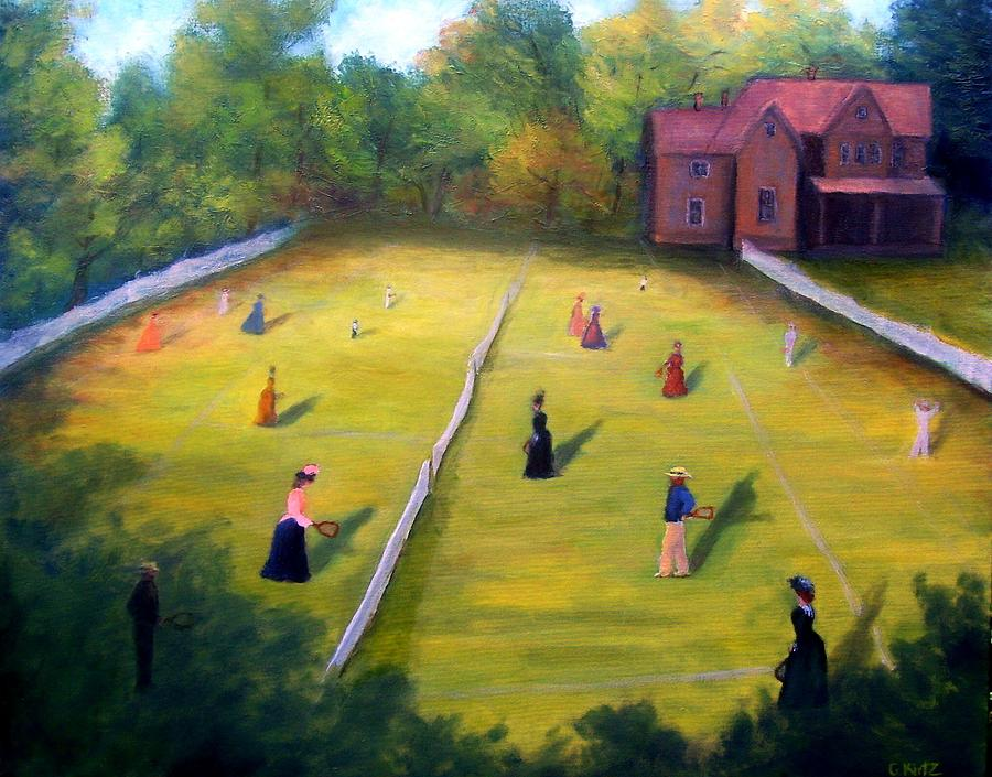 Impressionism Painting - Mixed Doubles by Gail Kirtz