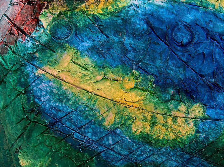 Contemporary Painting - Mixed media 05 by rafi talby by Rafi Talby