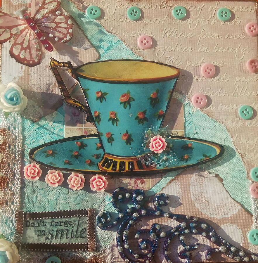 Mixed Media Painting - Mixed Media - Coffee Cup  by Saumya Saxena