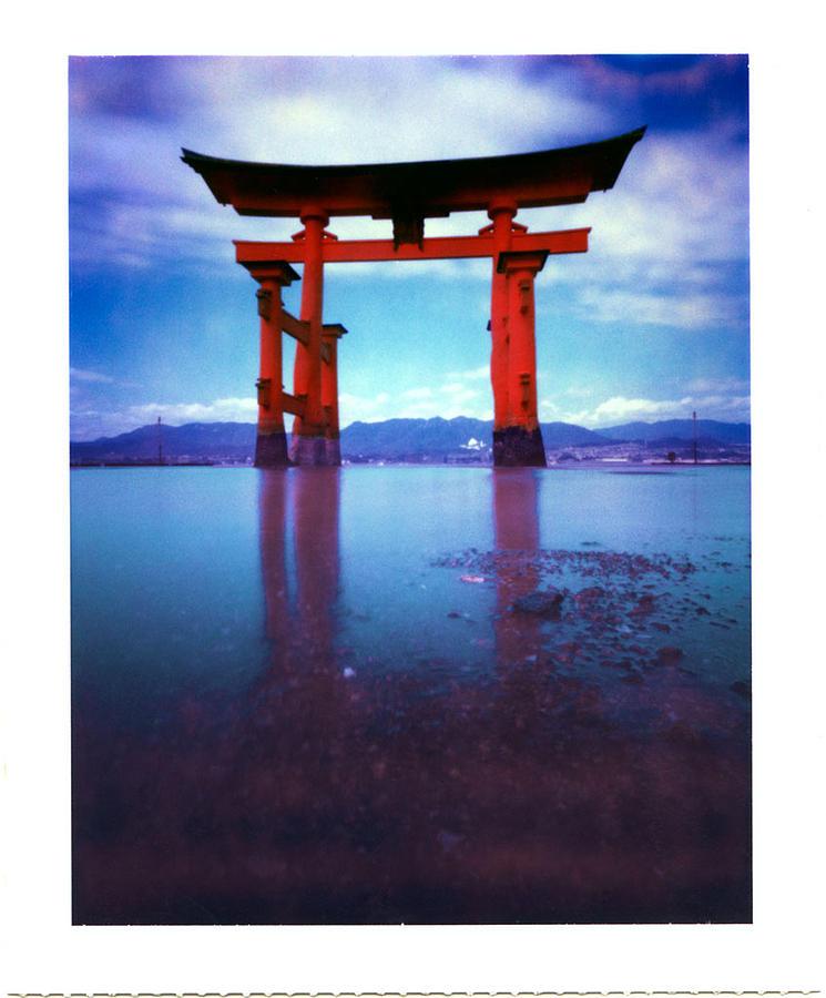 Pinhole Photograph - Miyajima Island Torii by Luca Baldassari