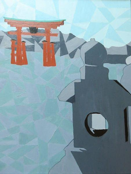 Japan Painting - Miyajima by Vivian Stearns-Kohler
