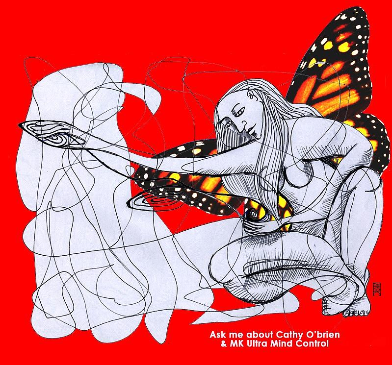 Mk Ultra Drawing - Mk Ultra Series Cathy Obrien by Joanna Whitney
