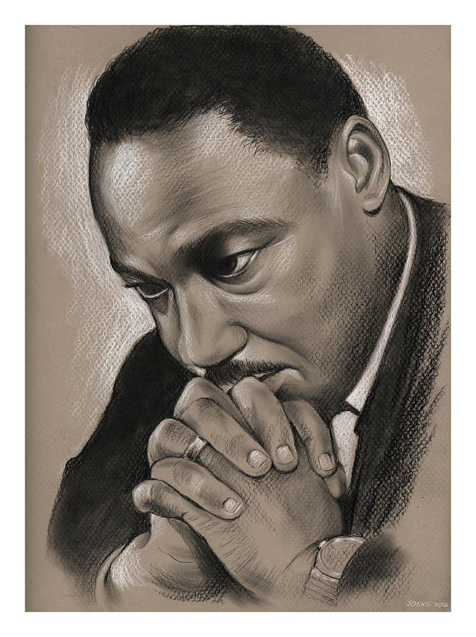 Mlk Drawing - MLK by Greg Joens