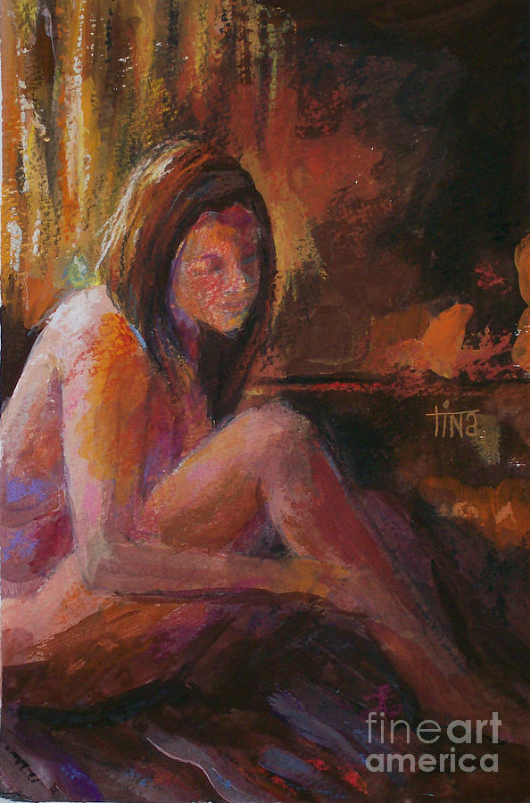 Figurative Painting - Mm Fig1 by Tina Siddiqui