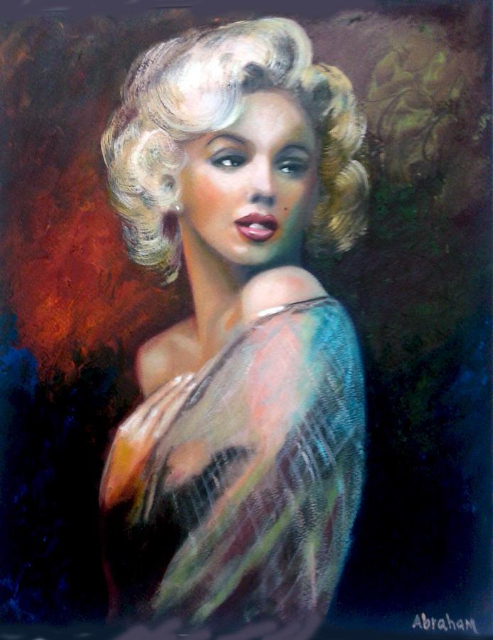 M.Monroe Painting by Jose Manuel Abraham