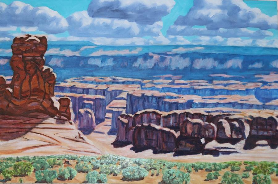 American Southwest Painting - Arches National Park,moab, Utah by Allen Kerns