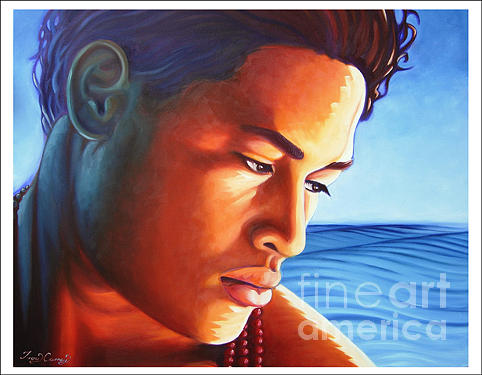Samoan Painting - Moana   Spirit Of The Sea. by Troy Carney
