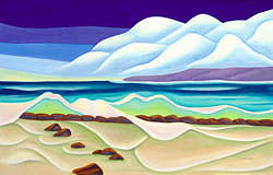 Landscape Painting - Moana Kai Surf by Lynn Soehner
