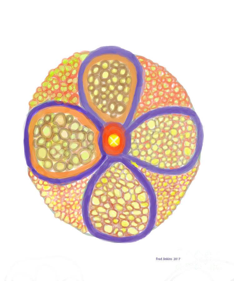 Stone Flower Digital Art - Moasic Flower by Fred Jinkins