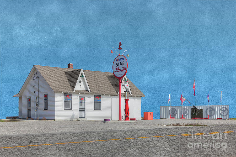 Hdr Digital Art - Mobile Gas Station  by Larry Braun