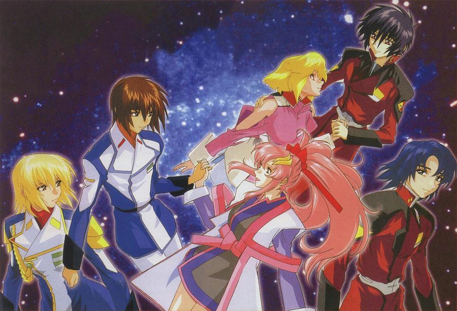 Moon Digital Art - Mobile Suit Gundam Seed Destiny by Dorothy Binder
