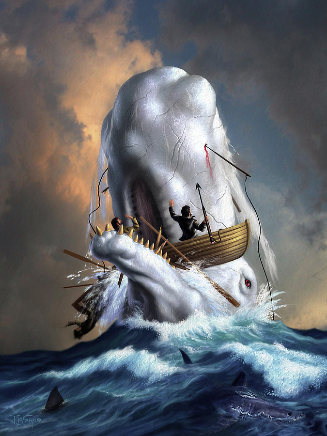 Moby Dick Digital Art - Moby Dick 1 by Jerry LoFaro