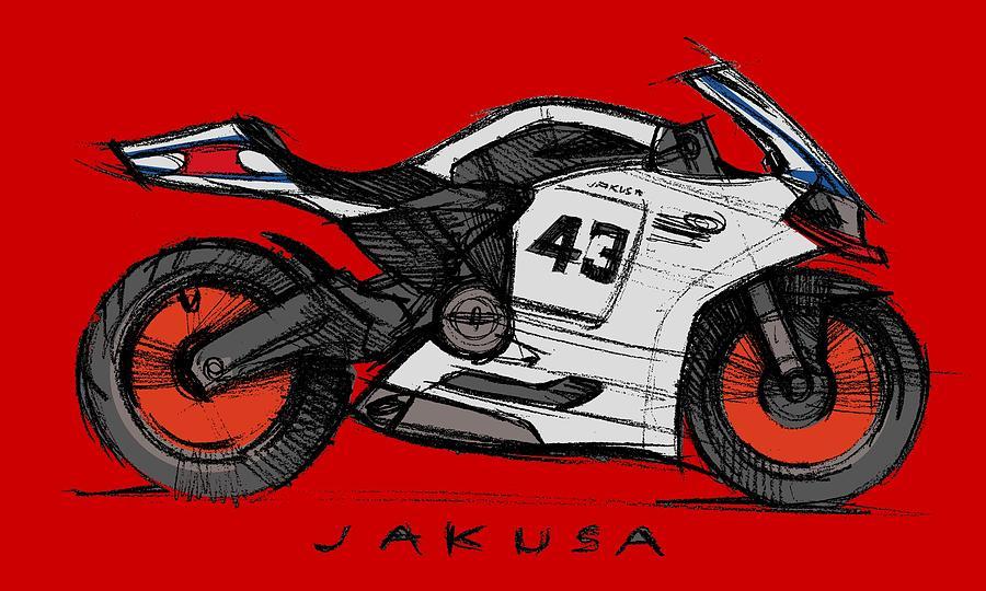 Moby Duc Digital Art by Jakusa Design