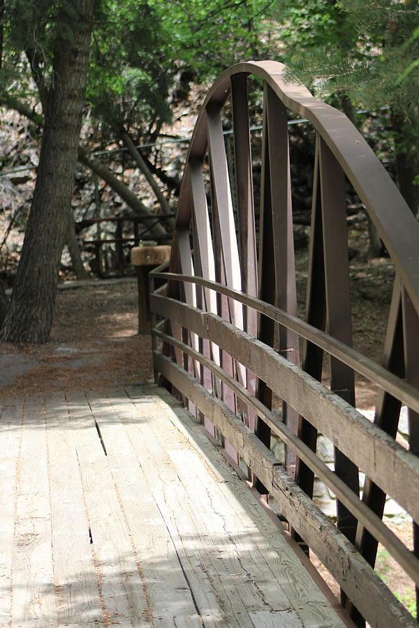 Mocha Photograph - Mocha Colored Walking Bridge in American Fork Canyon Utah by Colleen Cornelius