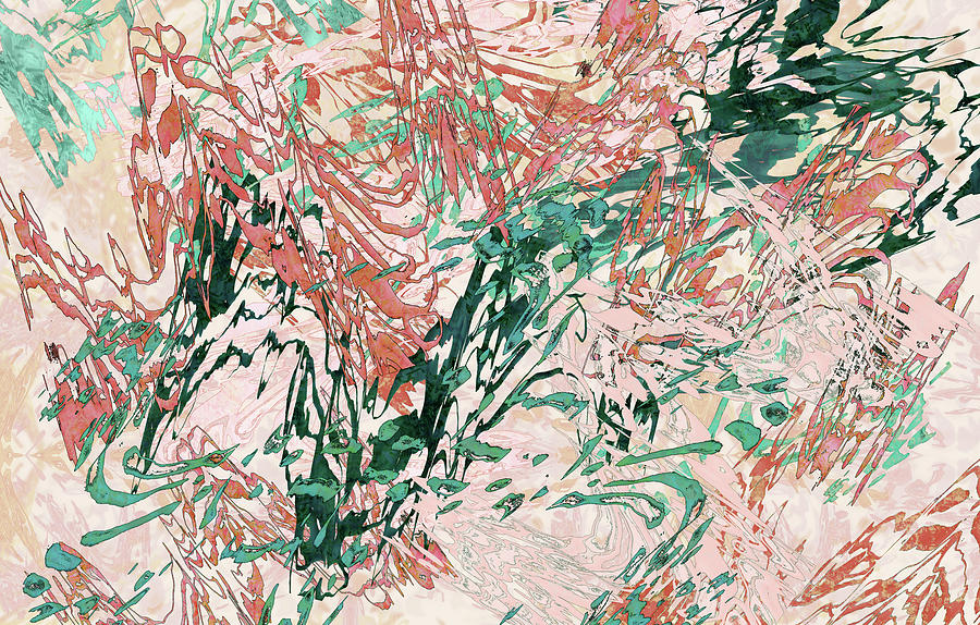 Mock Floral Blush Abstract by Kristin Doner
