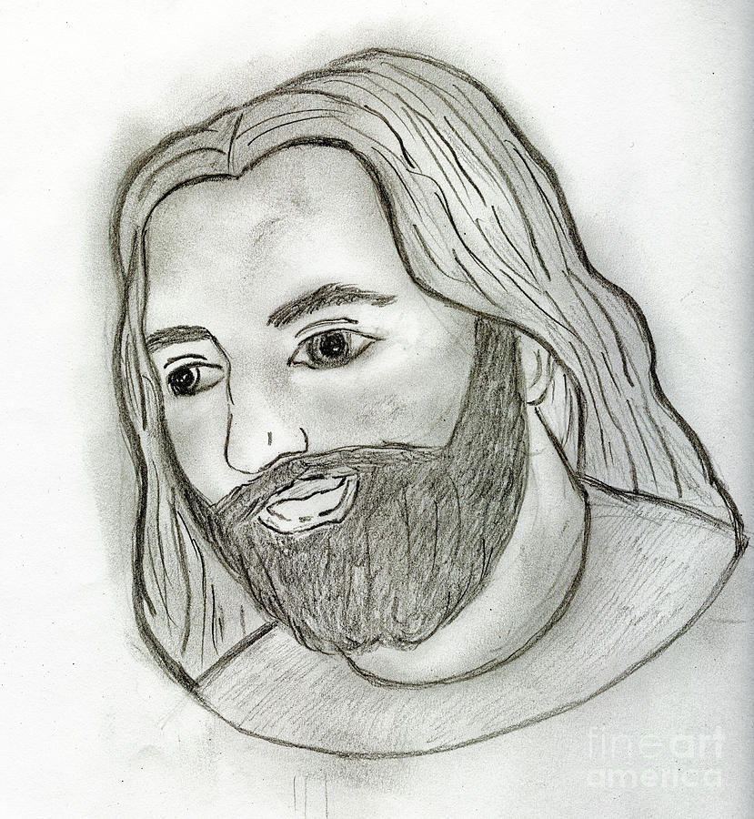 Mod Drawing - Mod Jesus by Sonya Chalmers