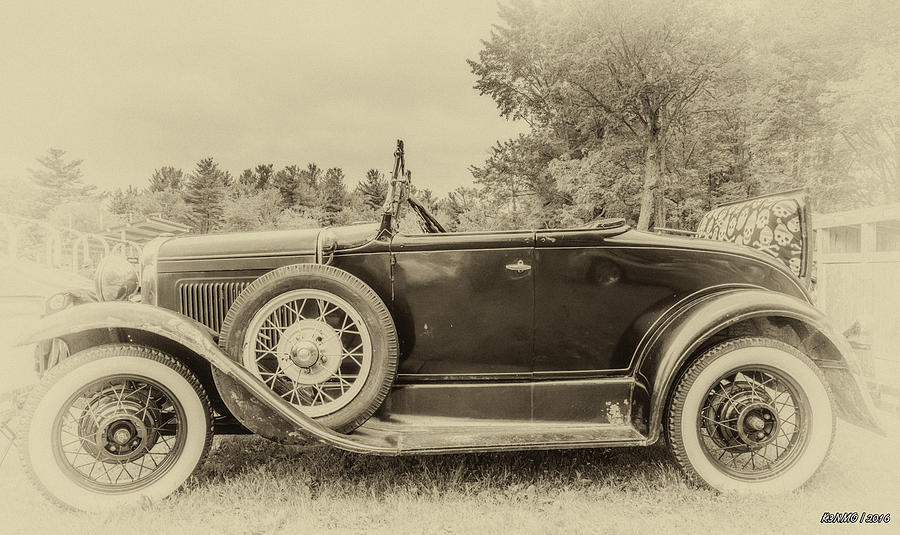 2016 Photograph - Model A Ford Roadster by Ken Morris