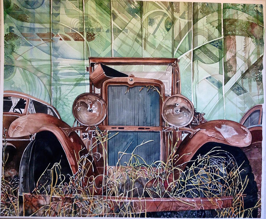 Model A Car Painting - Model A by Lance Wurst