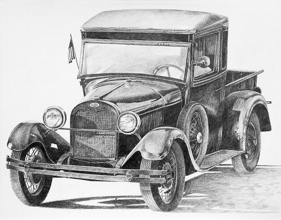 Old Car Drawings In Pencil