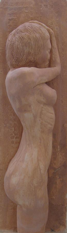 Clay Relief - Model Female Nude.02 by Ray Agius