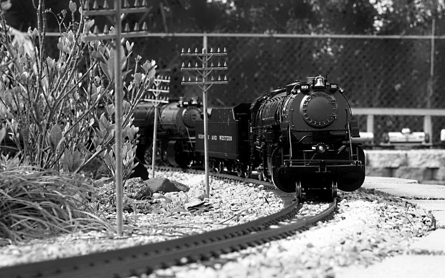 Train Photograph - Model Locomotive by Debra Forand