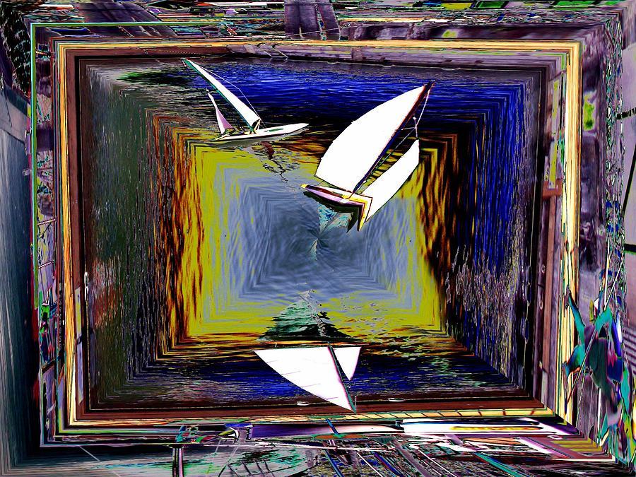 Sail Digital Art - Model Sailboats by Tim Allen