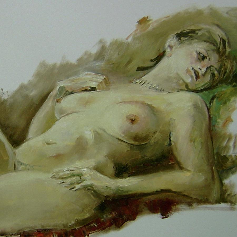 Nude Painting - Model Study by Tigran Ghulyan