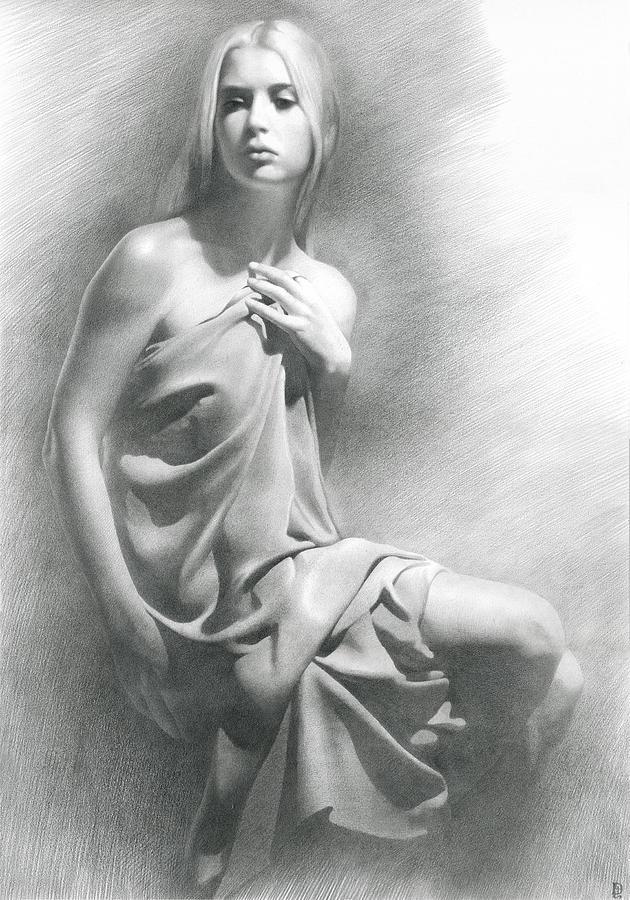 Girl Drawing - Model Viii  by Denis Chernov