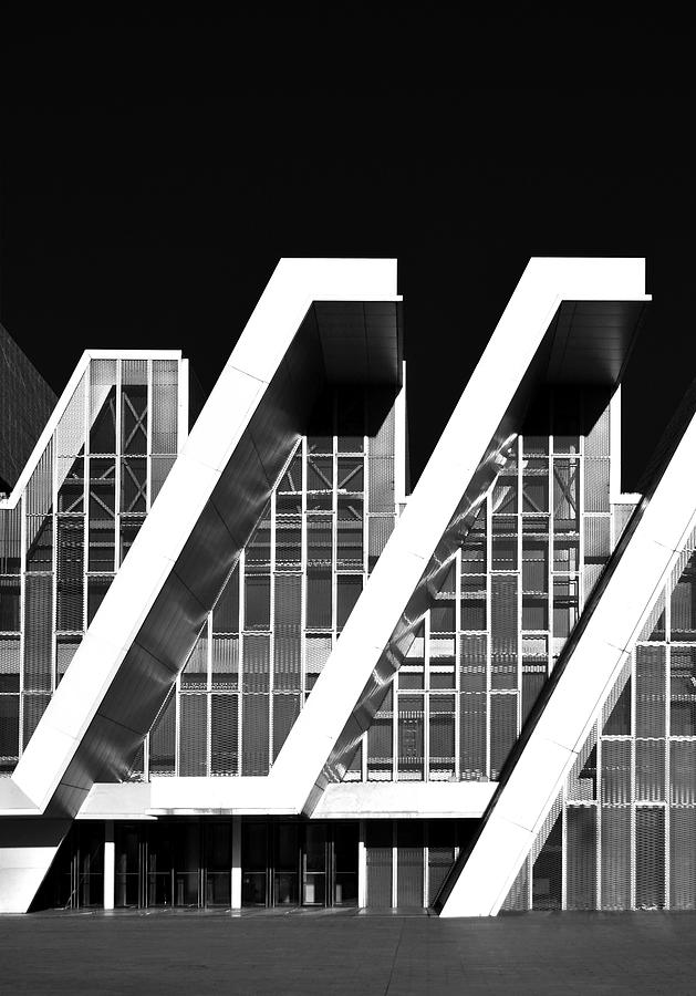 Modern Architecture Elements Monochrome Photograph by Marek Stepan