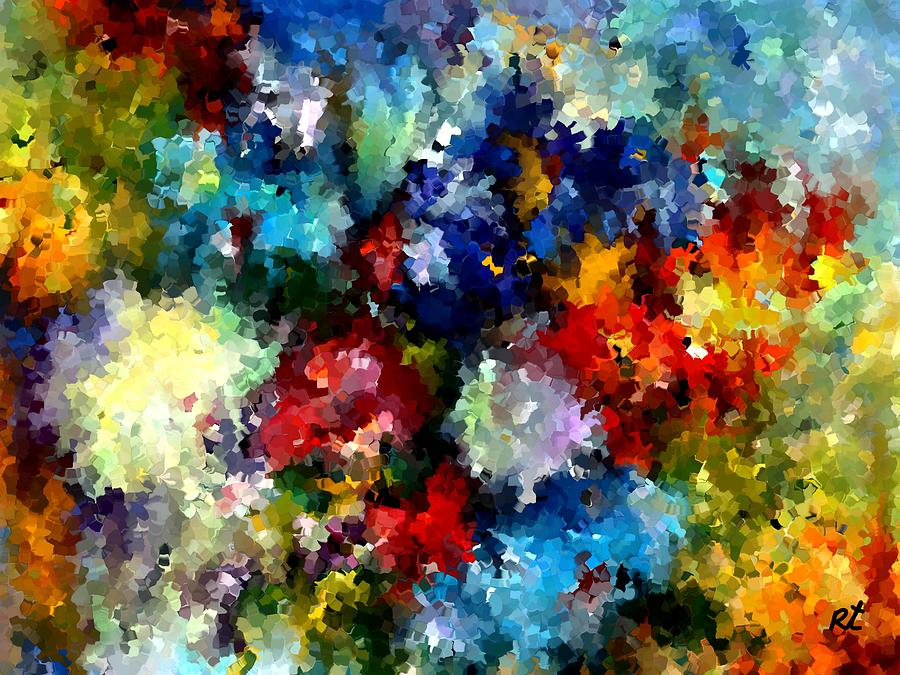 Contemporary Painting - Modern Composition 03 by Rafi Talby