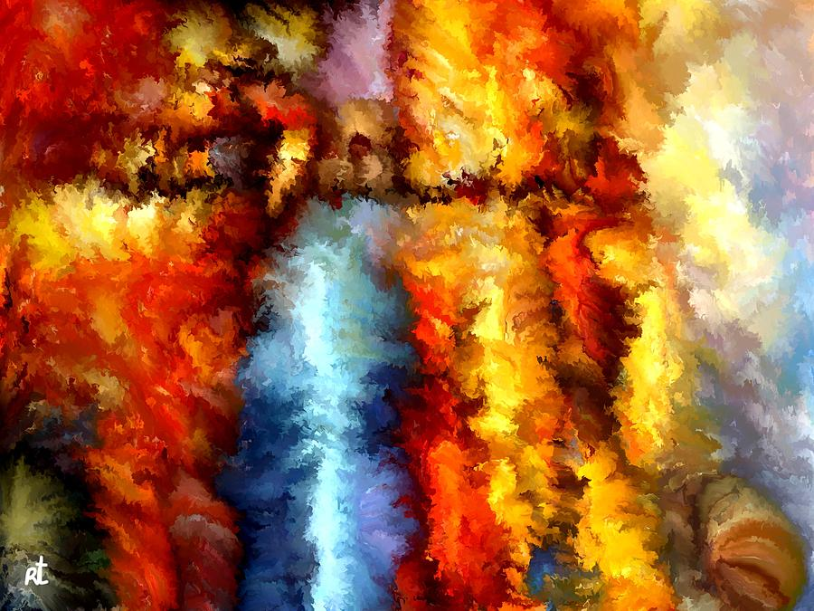 Contemporary Painting - Modern Composition 05 by Rafi Talby