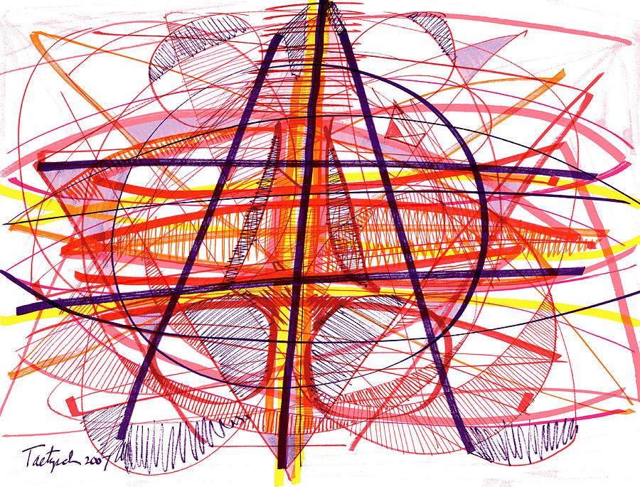 Modern Drawing Drawing - Modern Drawing Eighty-five by Lynne Taetzsch