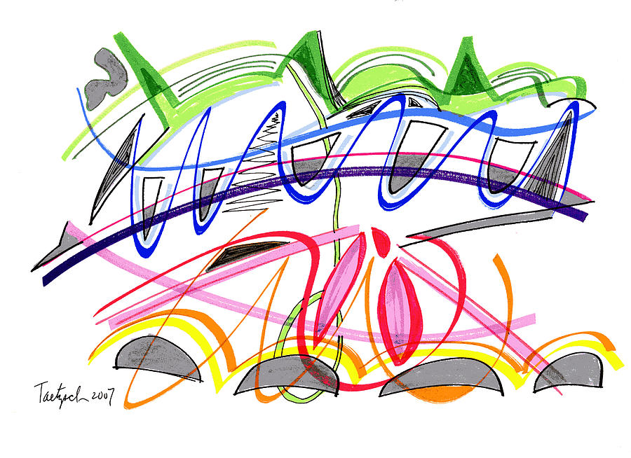 Modern Drawing Drawing - Modern Drawing Twenty-five by Lynne Taetzsch