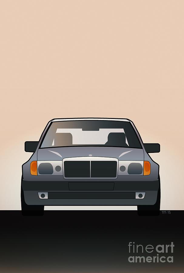 Car Digital Art - Modern Euro Icons Series Mercedes Benz W124 500e by Monkey Crisis On Mars