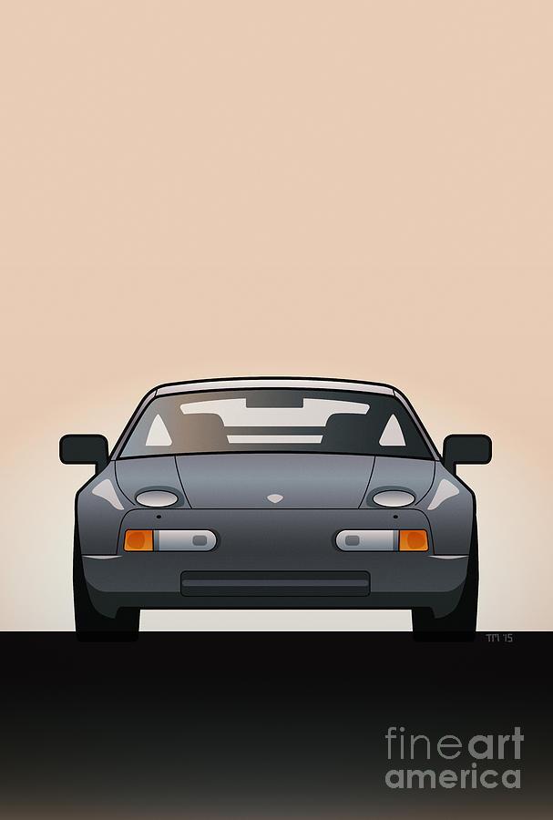 Car Digital Art - Modern Euro Icons Series Porsche 928 Gts by Monkey Crisis On Mars