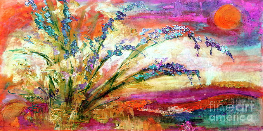 Modern Expressive Floral Landscape by Ginette Callaway