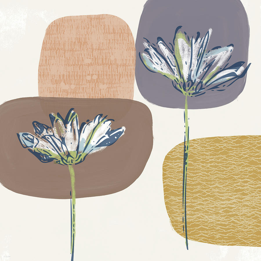 Modern Mixed Media - Modern Fall Floral 1- Art By Linda Woods by Linda Woods