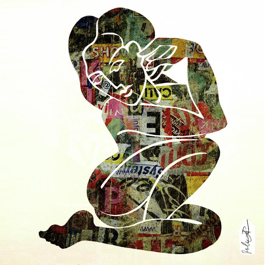 modern graffiti girl print abstract painting artrobert erod