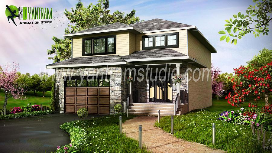Modern Home 3d Exterior Design Usa