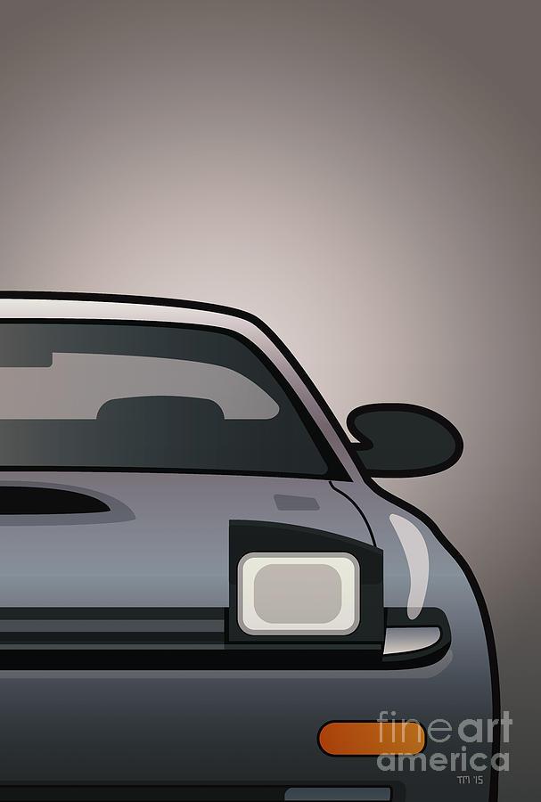 Car Digital Art - Modern Japanese Icons Series Toyota Celica  Gt-four All-trac Turbo St185 Split by Monkey Crisis On Mars