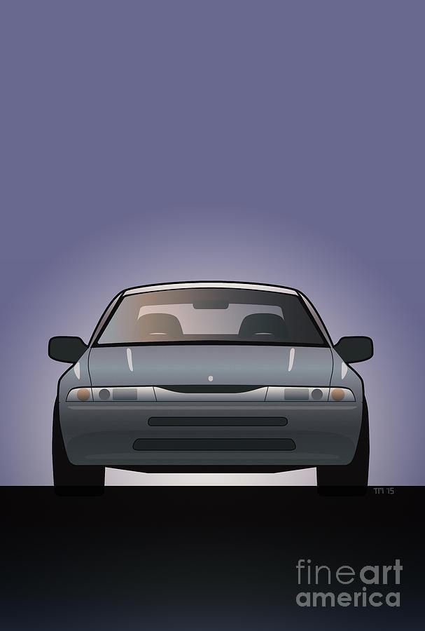 Car Digital Art - Modern Japanese Icons Subaru Alcyone Svx by Monkey Crisis On Mars