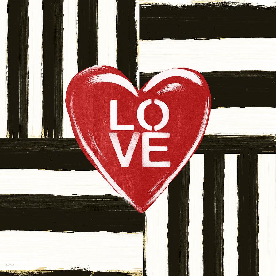 Love Painting - Modern Love- Art by Linda Woods by Linda Woods