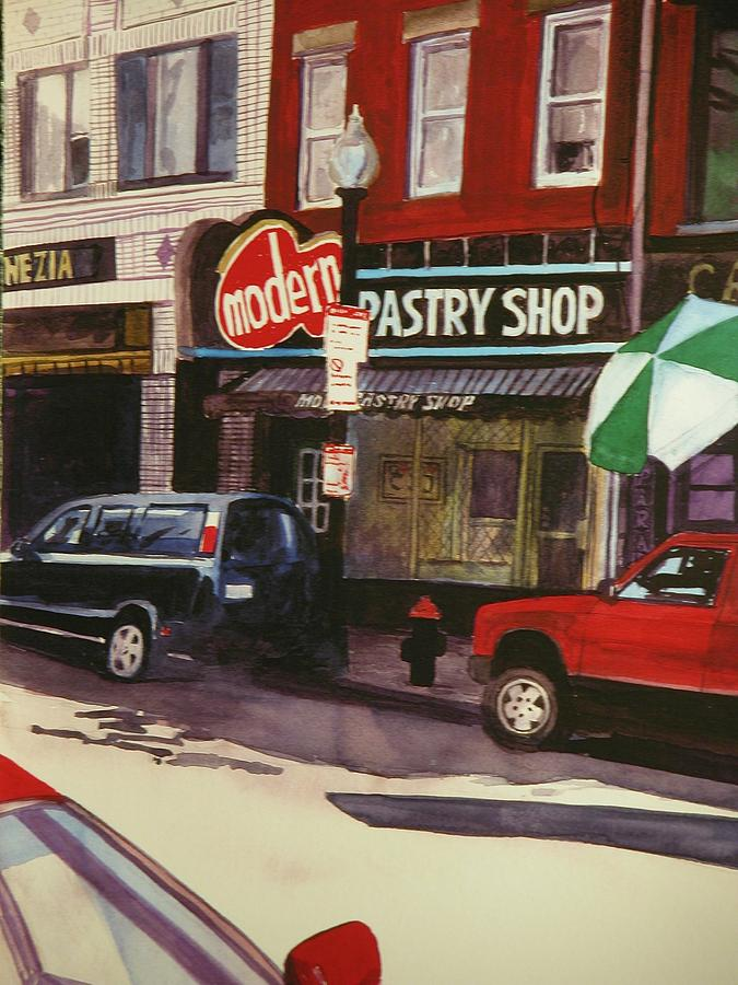 Boston Painting - Modern Pastry Shop Boston by Walt Maes