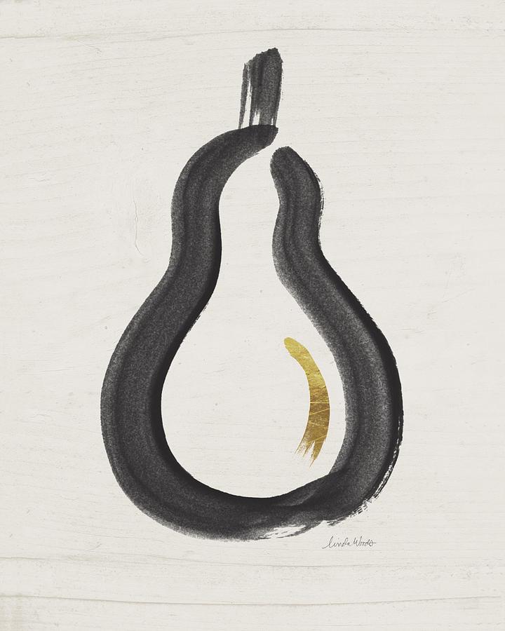 Pear Painting - Modern Pear- Art By Linda Woods by Linda Woods