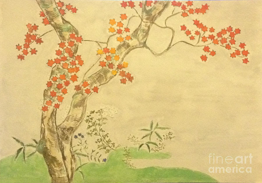 Sakai Hoitsu Painting - Modern Reflection of Sakai Hoitsu by Sawako Utsumi