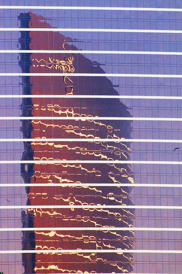 Cityscape Photograph - Modern Reflections In Sin City by Richard Henne