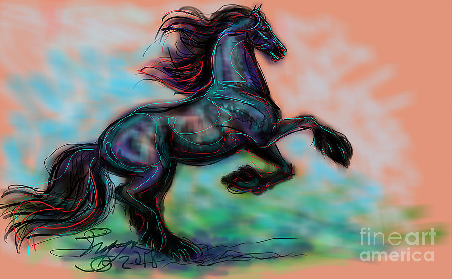 Modern Royal Friesian by Stacey Mayer